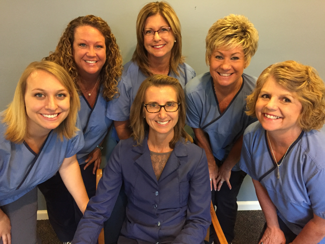 Dr. Julie Plagens and her Dental Team