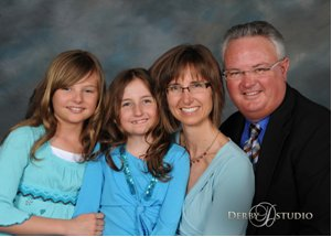 Dr. Julie Plagens and her family.